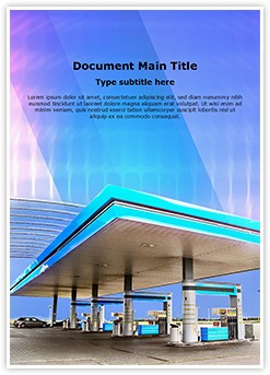 Gasoline Station Editable Word Template
