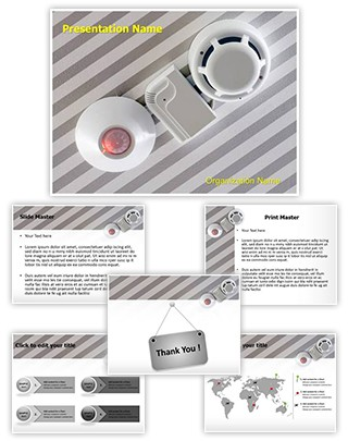 Fire Sensor System Editable PowerPoint Template