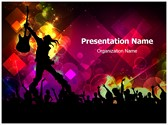 Rock Concert Abstract Template