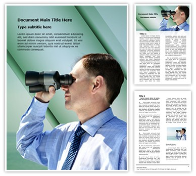 Editable business vision Word Document Template