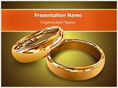 Wedding Couple Rings Editable PowerPoint Template