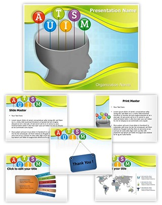 Autism Head Editable PowerPoint Template