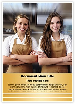 Cafe waitresses Editable Word Template