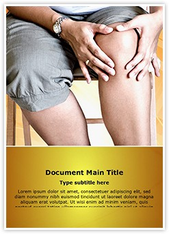 Massaging knee Editable Word Template