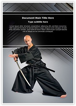 kendo Warrior Editable Word Template