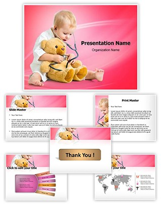 Kid Playing Doctor Editable PowerPoint Template