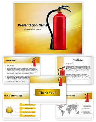 Fire Extinguisher Editable PowerPoint Template