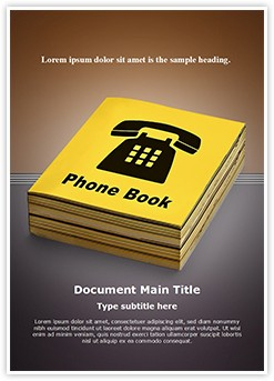Yellow Pages Editable Word Template