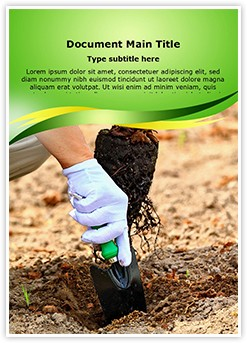 Afforestation Editable Word Template
