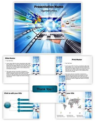 Digital World Editable PowerPoint Template