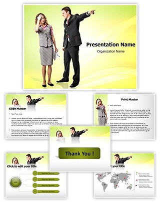 Anger Discharge Editable PowerPoint Template