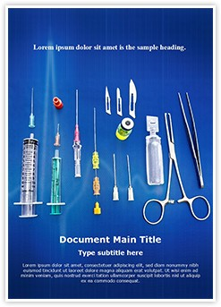 surgical equipment Editable Word Template
