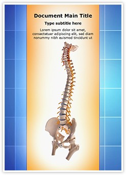 Human spinal Editable Word Template
