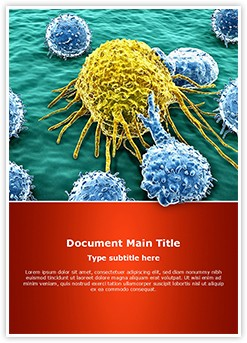 Cancer Cells Editable Word Template
