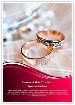 Wedding Rings Editable Word Template