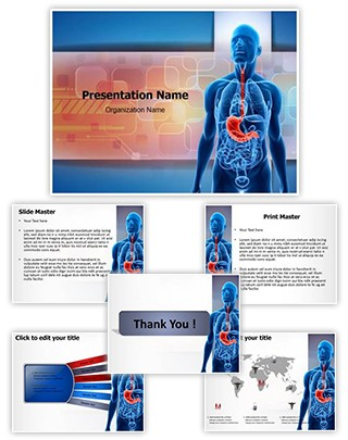 Human Stomach Editable PowerPoint Template