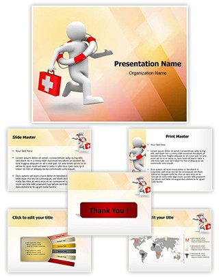 Life Saving Doctor Editable PowerPoint Template