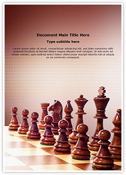 Wooden Chess Editable Word Template
