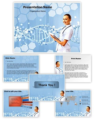 Dna Helix Editable PowerPoint Template