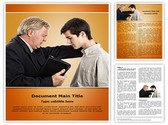 Pastor Praying Editable Word Template