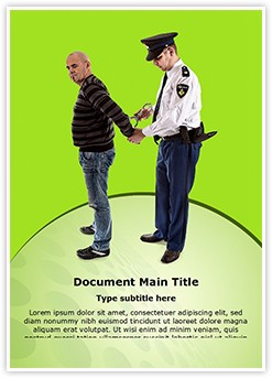 police arrest Editable Word Template