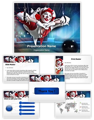 Circus Acrobat Editable PowerPoint Template
