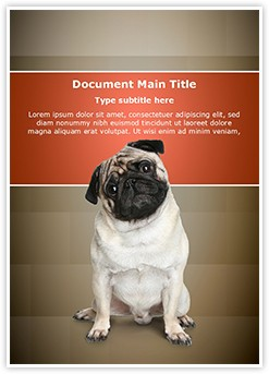 Pug puppy Editable Word Template