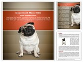 Pug puppy Editable Word Template