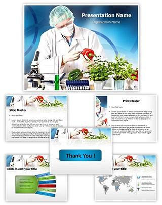 Genetic Engineering Lab Editable PowerPoint Template