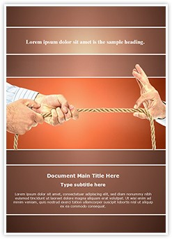 Pulling Rope Editable Word Template