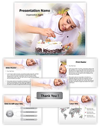 Professional Chef Baking Cake Editable PowerPoint Template