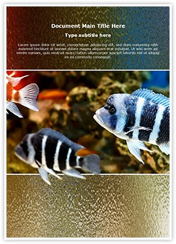 Zebra fish Editable Word Template