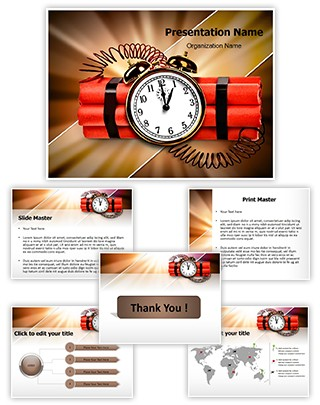 Time Bomb Editable PowerPoint Template