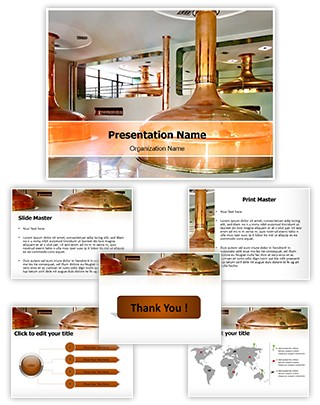 Bohemian Brewery Editable PowerPoint Template