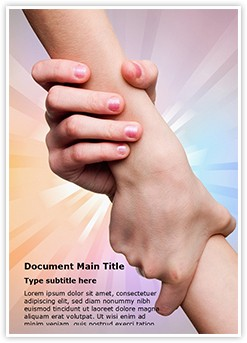 Helping hands Editable Word Template