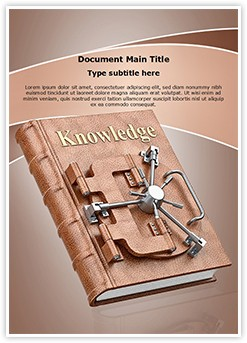 Book of Knowledge Editable Word Template