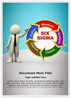 3D Six Sigma Editable Word Template