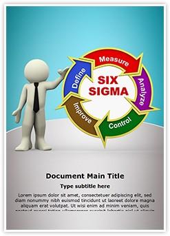 3D Six Sigma Editable Word Template