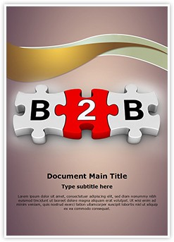 B2B Puzzle Editable Word Template