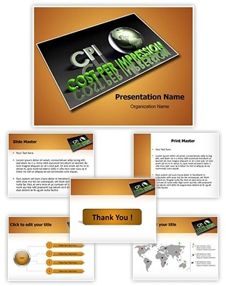 Cost Per Impression Editable PowerPoint Template