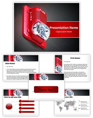 Fire Alarm Editable PowerPoint Template