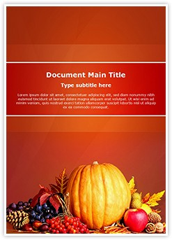 Thanksgiving Editable Word Template