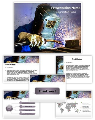 Welding Helmet Editable PowerPoint Template