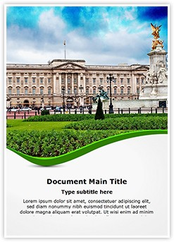 Buckingham Palace Editable Word Template