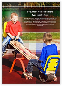 Kids on Seesaw Editable Word Template