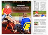 Kids on Seesaw Template