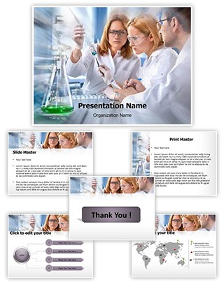 Science Students Laboratory Editable PowerPoint Template