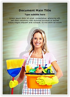 Cleaner Woman Editable Word Template