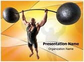 Muscular Man PowerPoint Templates
