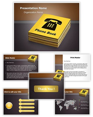 Yellow Pages Editable PowerPoint Template